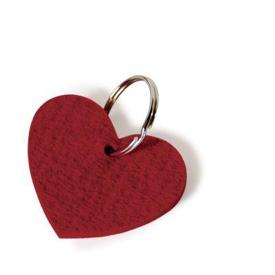 Herz-Schlüsselanhänger aus rotem Filz | 168355996
