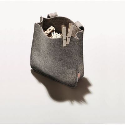 Klammerbeutel aus Filz mit Wäscheklammern aus Holz | 347789881 / EAN:4023116400027