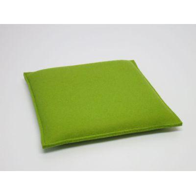 Kleine Sitzkissen aus Wollfilz in den Farben - Zitrone 03, erbse 51 | 27231337