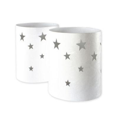 Lichtbanderole aus Tyvek mit Sternen | LB1ST