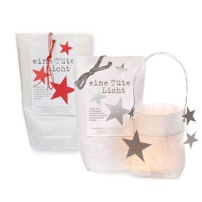Lichtertüten - Weihnachten - rote Sterne   305618571