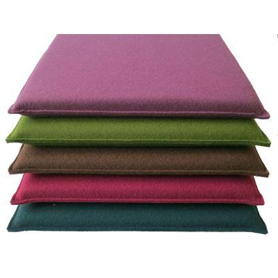 Quadratische Sitzkissen aus Filz in den Farben - Aubergine 29, türkis 38 | 45492457