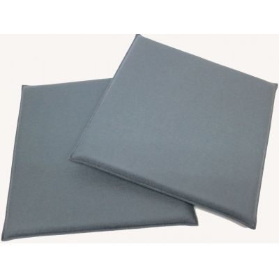 Rotorange 08, wasserblau 37 - Eckige Sitzkissen aus Filz, Maße 37 x 37 cm in vielen Farben | 388374646
