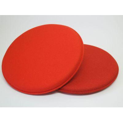 Runde Sitzkissen 35 cm Durchmesser in den Farben - Rost 06, creme 01 | Filzrund35
