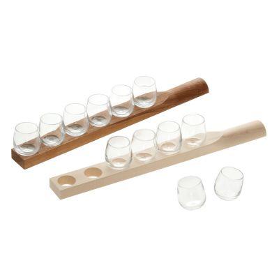 Schnapsgläser, mundgeblasen mit oder ohne Holzbrett | 454727090
