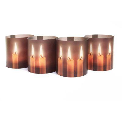 Schneeflocke - LichtHüllen für Windlichter, Advent und Weihnachten   LH21