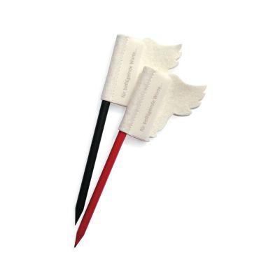 Schwarz - Stift für beflügelnde Worte - Bleistift mit Filzflügel   172616471