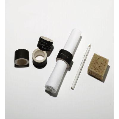 Serviettenringe aus Ahorn mit Tafellack, beschriftbar | 349577101