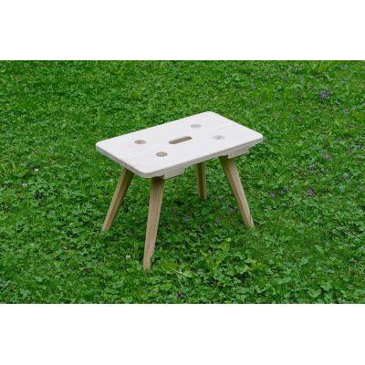 Sitzhöhe 45 cm - Melkschemel aus Holz, Fichte und Eiche | 53616531
