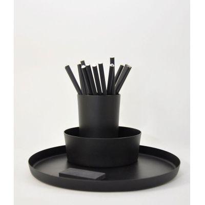 Utensilo Triple - Schalenset aus schwarz lackiertem Aluminium | TR30