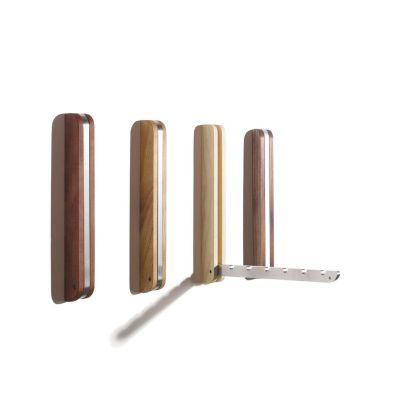 Wandhaken aus Holz und Aluminium, zusammenklappbar | 348064436
