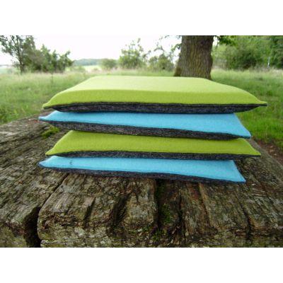 Wasserblau 37, lavendel 22 - Sitzkissen aus Filz, Größe 35 x 35 cm | 27231338
