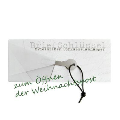 Weihnachtskarte mit Brieföffner - zum Öffnen der Weihnachtspost   156437831