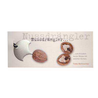 Weihnachtskarte mit Nuss-Drängler zum Öffnen von Walnüssen | 250049226