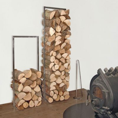 WoodTower - verzundertes Stahlgestell zum Stapeln von Brennholz | 166012086