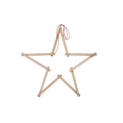 Zweimeter Stern, ein Zollstock zu Weihnachten | SE6