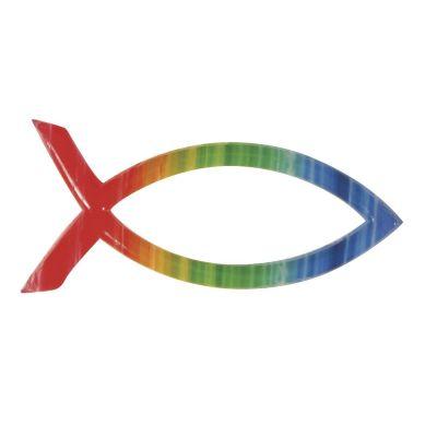 Wachsmotiv christlicher Fisch Regenbogen | 31507000