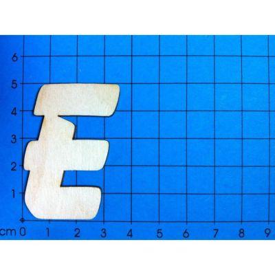 ABC Holzbuchstaben natur Kleinteile gelasert 19mm, 33mm, 50mm, 80mm, 120mm | ABH 50-