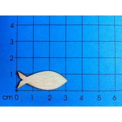 Fisch geschlossen aus Holz 22mm - 300mm | KFH35.. / EAN:4250382802594