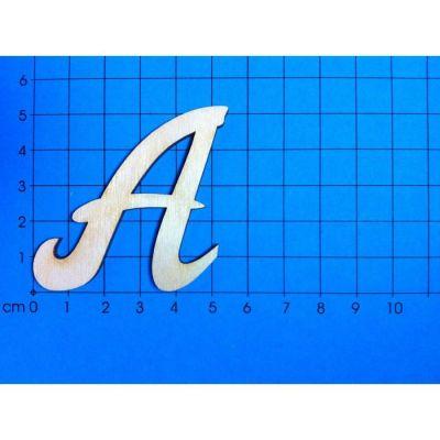 Holzbuchstaben 50mm in Schreibschrift Großbuchstaben   ACH05G-A / EAN:4250382852261