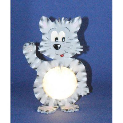 Katze 20 cm / 33 cm inkl. 7cm bzw. 12cm Acrylglas-Kugel mit Geldschlitz oder Loch   LKZ 4333SB