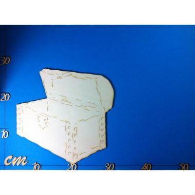 Schatztruhe aus Holz 40mm - 260mm   RIH5304 / EAN:4250382821298