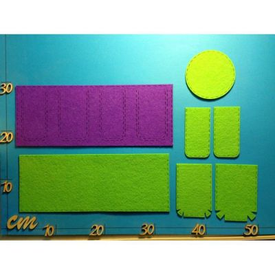 Utensilo Filz in verschiedenen Farbkombis | HAF..-6179SB / EAN:4250382861294