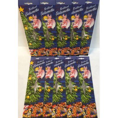 10x Staniol Brillant Eislametta Weihnachtsbaum 30 Fäden Silber Lametta verzinkt Schwer!!! | BR-46019 / EAN:4037684460192