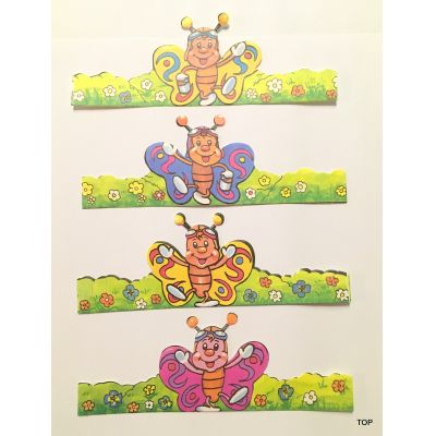 12 lustige Eier-Dekorationen Papier Manschette Ostern | 08124 / EAN:4015861081248
