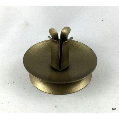 1er Kerzenständer Rund metallic Gold gepulvert dünne Kerzen | AM-27817 / EAN:8711295278174