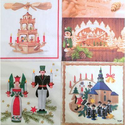 20 Servietten 61030 Weihnachten 33x33 cm Home Fashion 4 Motiven | 61030 / EAN:4022664615334