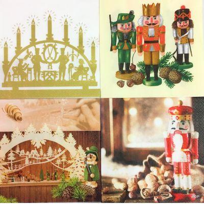 20 Servietten 61561 Weihnachten 33x33cm Home Fashion in 4 Motiven | 61561 / EAN:4022664615617