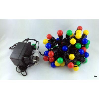 50er-LED-Multicolor-Lichterkette-Party-Feste-Weihnachten-Innen-und-Aussenbereich 5m | BR-70050 / EAN:4037684700502