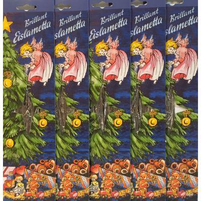 5x Brillant Eislametta verzinnt 30 Fäden Silber Lametta Schwer!!!   BR-46018 / EAN:4037684460192