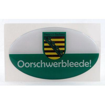 Aufkleber Sachsen Oorschwerbleede echten Sachsen Autofahrer | NM-114