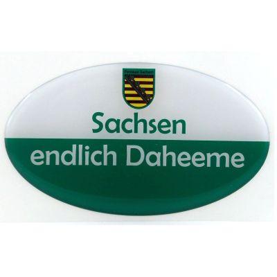Aufkleber Sachsen Ostprodukt Ossi Spruch Sachsen endlich Daheeme jeden echten Fan | NM-113 / EAN:4250825195023