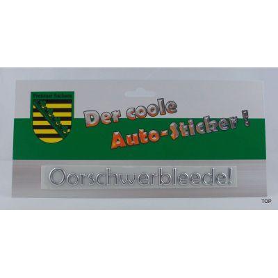 Autosticker Aufkleber Oorschwerbleede Schriftzug Silber Sachsen | NM-AS-OBL / EAN:4250825195894