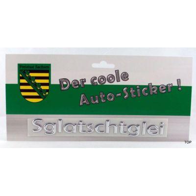 Autosticker Sachsen Aufkleber Sglaschtglei Schriftzug Silber | NM-AS-SGL / EAN:4250825195887