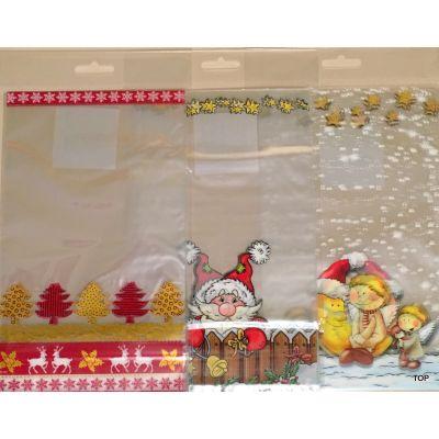 Beutel mit Boden 8er Pack Weihnachtsmotive 14,5x23,5 cm  | BR-46229 / EAN:0437684 467580