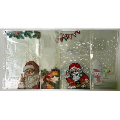 Bodenbeutel, Klarsichtbeutel, Weihnachten, 8 Stück 145 x 235 mm | WN-46229 / EAN:4037684462295