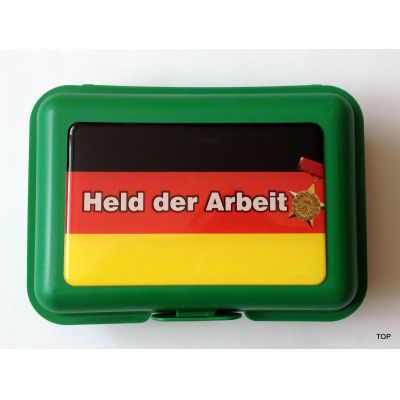 Brotbüchse Held der Arbeit Sachsen Brotdose Lunchbox Dose Box    NM-201 / EAN:4250825196051