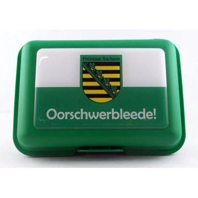 Brotbüchse Oorschwerbleede Sachsen Brotdose Lunchbox Dose Box    NM-202 / EAN:4250825196068