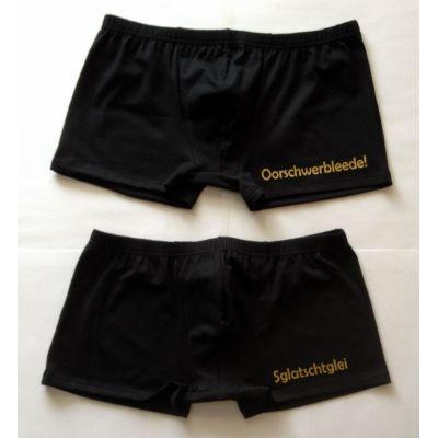Classic Boxer Boxershorts mit sächsischen Schriftzug Gold Sachsen | NM-360 / EAN:4250825196006
