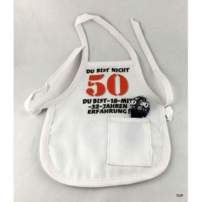 Flaschen Schürze 50. Mini Schürze DU BIST NICHT 50 originelle Art | 99011