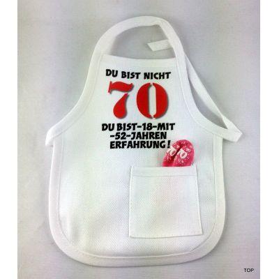 Flaschen Schürze 70. Mini Schürze DU BIST NICHT 70 originelle Art   99013