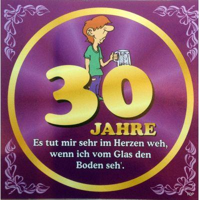 Flaschenetikett Bier 30.Geburtstag Jubiläum Geschenkidee Präsent | NM-9901