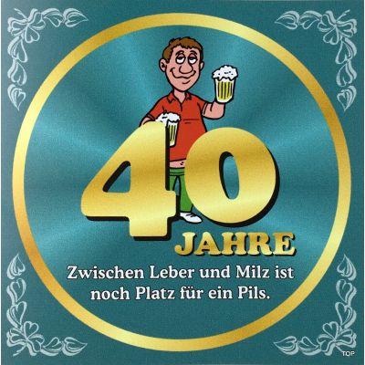Flaschenetikett Bier 40.Geburtstag Jubiläum Geschenkidee Präsent | NM-9902