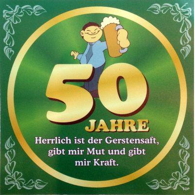 Flaschenetikett Bier 50.Geburtstag Jubiläum Geschenkidee Präsent | NM-9903