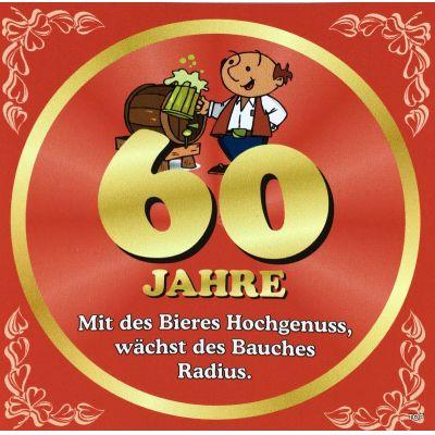 Flaschenetikett Bier 60.Geburtstag Jubiläum Geschenkidee Präsent   NM-9904