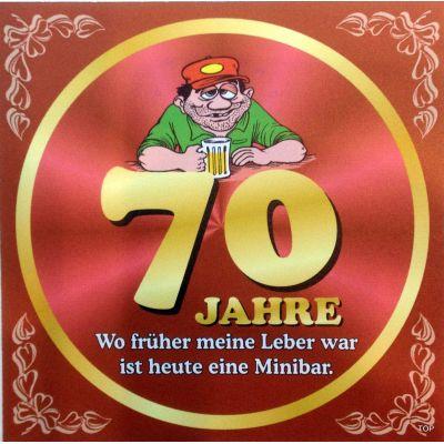 Flaschenetikett Bier 70.Geburtstag Jubiläum Geschenkidee Präsent | NM-9905